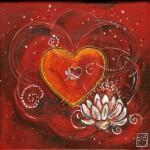 32-Heart strings-Acrylic-200mm x 200mm