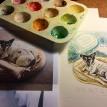 Making of Dexter's Watercolour Tribute -Feb16